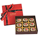 ZOROY LUXURY CHOCOLATE Valentines Day Love Gift Box Of 9 I Love You Chocolate - 95Gms