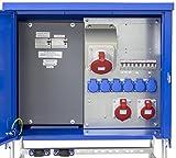 as - Schwabe 61141 Baustromverteiler SVEV 2 CEE-Stromverteiler für Baustelle, Aussen und Outdoor, IP44, 16A, 32A, 63A, blau