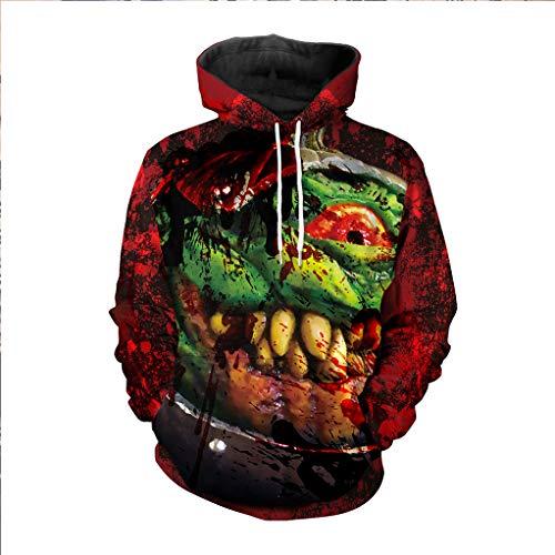 Skeleton Sweatshirt Hoodie Kind Kostüm - CHUN BO Halloween Kostüm Paar Pullover