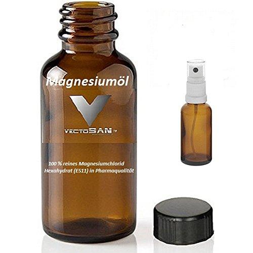 3 x 1000 ml vectosan® zech Pierre magnesiumöl de qualité premium + zusätzl. Vaporisateur