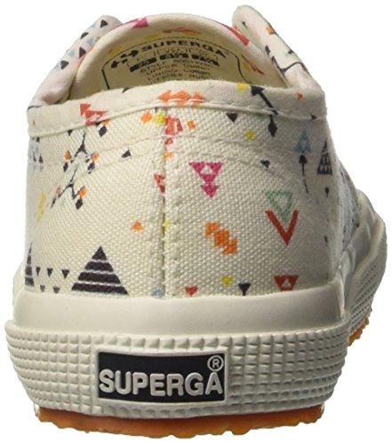 Superga Kinder-Unisex 2750-Fantasy Cotj Niedrige Sneaker Multicolore (Cross Stitch White)