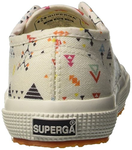 Superga  2750-fantasy Cotj, Sneakers basses Unisexe - enfant Multicolore (Cross Stitch White)