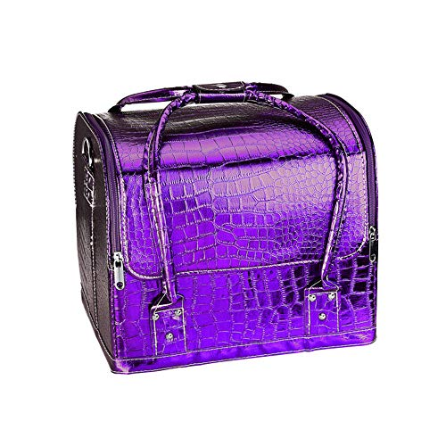 Organizer Box Beauty Up Make Unghie Yishelle Case Cosmetic PatterncoloreViola Custodia Bag Per Vanity Crocodile 08wknOP