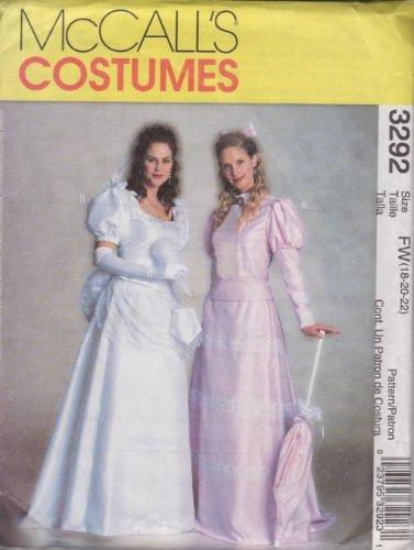 Mccalls Für Kostüm Erwachsene Muster - McCall's Costumes: Muster 3292 für Damen/Miss Petite Viktorianische Kostüme, Größe FW (46-48)