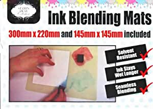Stamps Away - Set of 2 Ink Blending Mats - 30 x 22cm and 14.5 x 14.5cm