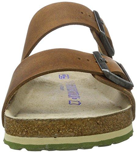 Birkenstock Arizona Leder Softfootbed, Ciabatte Unisex – Adulto Braun (Antique Brown)