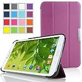 Mulbess - für Samsung Galaxy Tab Pro 10.1 T520 WiFi T525 LTE Slim Smart Leder Hülle Case - Magnetic Magnet Schutzhülle Case Tasche Etui Sleeve Cover mit Standfunktion + Auto Sleep Wake Up Farbe Violett