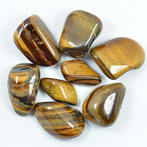 Tiger Eye Tumble Stone 100 gms for Reiki Chakra Healing Gemstone Feng Shui - Vastu
