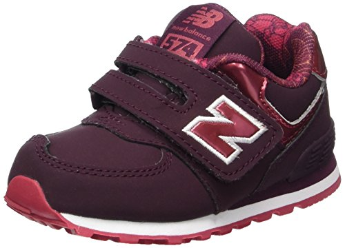 New Balance Unisex-Kinder Sneaker, Rot (Burgundy), 25 EU (7.5 UK Child) (Baby Mädchen Turnschuhe New Balance)