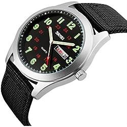Relojes Hombre Watches Men Quartz Nylon Strap Man Sports Watches Simple Watch Relogio Masculino , navy