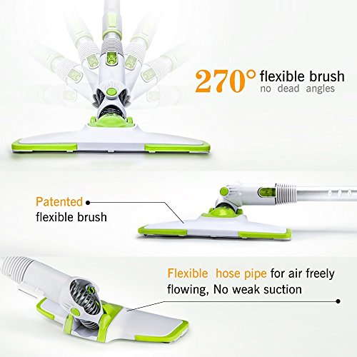 Portable Vacuum Cleaner puppyoo wp521 Bagless 2 in 1 with 3 Different Brushes, Mango Bagless Vacuum Cleaner with Cyclone Technology, 400 W, Filter Holder.