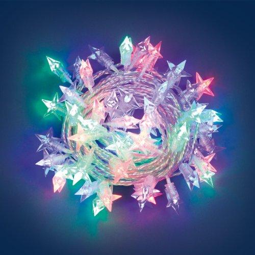 Collana 7,5 m, 60 Ministelle, led, giochi di luce, luci di Natale, luci colorate, luci per l'albero di Natale