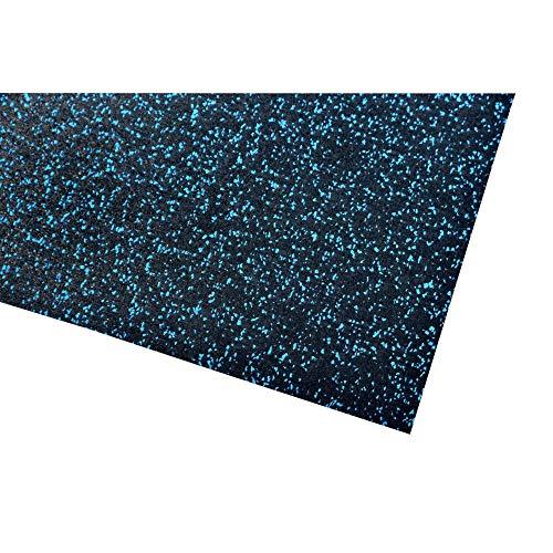 acerto 40388 Unterlegmatte für Fitnessgeräte * Unterlage 60x125cm (4mm) blau Robuster Fußbodenschutz rutschfest & Schalldämmend Boden-Schutzmatte Fitness-Raum Bodenbelag Sportgeräte Multifunktions