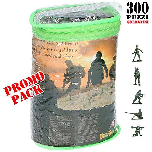 Soldatini In Plastica 300 Pezzi Scatola Soldati Playset Soldier Eddy Toys