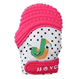 #5: Zibuyu Baby Silicone Teethers Chewable Pacifier Nursing Gloves Dental Gift(Pink)