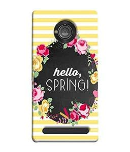 PrintVisa Designer Back Case Cover for YU Yuphoria :: YU Yuphoria YU5010 (Welcome spring winter calls)