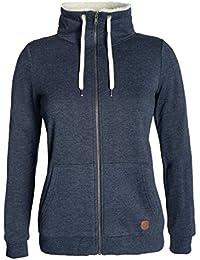 DESIRES Derby Pile Zip Damen Sweatjacke Kapuzen-Jacke Zip-Hood Stehkragen  aus Hochwertiger Baumwollmischung e0e0cdb34a