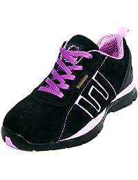 Chaussures De Sécurité Pour Les Femmes, L'acier Au Bout Des Doigts, La Dentelle, La Lumière, La Couleur Multicolore, Taille 36.5