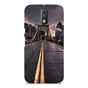 Hamee Designer Printed Hard Back Case Cover for Motorola Moto Z Play Design 6225