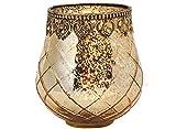 matches21 Windlicht Teelichtglas Kerzenglas Orientalisch Gold