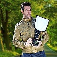 Hanbaili Flash difusor reflector, Flash difusor Snoot Reflector Lambency para Canon Nikon