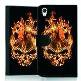 wicostar Wallet Book Style Flip Handy Tasche Case Schutz Hülle Schale Motiv Etui für ZTE Blade L3 - Flip UMH13 Design12