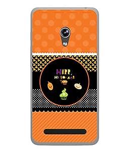 PrintVisa Designer Back Case Cover for Asus Zenfone 5 A501CG (Yellow Black Green Art Illustration Decoration Image Modern Concept)