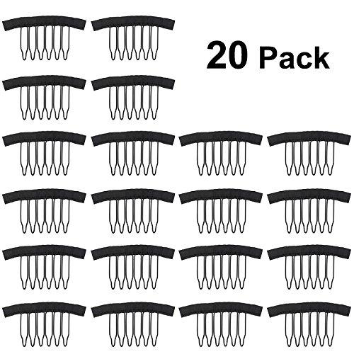 Tinksky Peigne en Acier de Perruque Peignes pour Perruque Bonnets Dentelle PAC, Paquet de 20