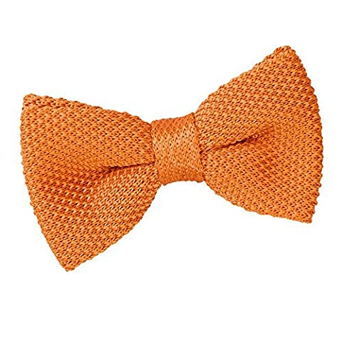 Mens Knitted Tangerine Bow Tie