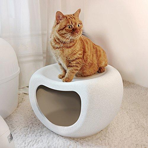 Nclon Hund Häuser Cat Hunde Haus Haustiere Cool Nest Käfig Zwinger,Schuhputzmaschine Bank Rack Storage Regal Bank-Weiß (Bank Eintrag Weiß)