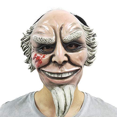 J-MASK Máscara de Halloween Tío Sam Latex Full Face Terror Headgear Película Cosplay OneSize