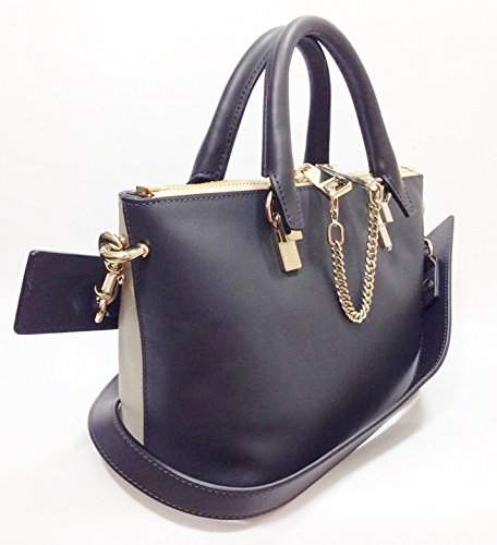 Chloe-Porte-Epaule-Baylee-Leather-Shoulder-Hand-Bag-RRP-880-BlackGrey