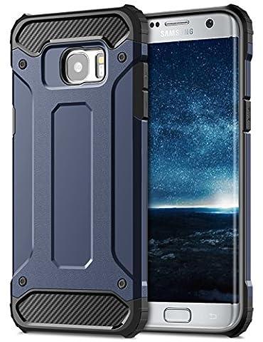 Samsung Galaxy S7 Edge Hülle, Coolden Outdoor Fallschutz Case Doppelte Schutz Soft Flex Silikon TPU Schale + Schlank Hard PC Bumper Cover Stoßfest Schutzhülle für Samsung S7 Edge Handyhülle