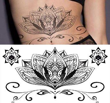 Autocollant de Tatouage temporaire pour Art Corporel Dente Autocollant Tatouage