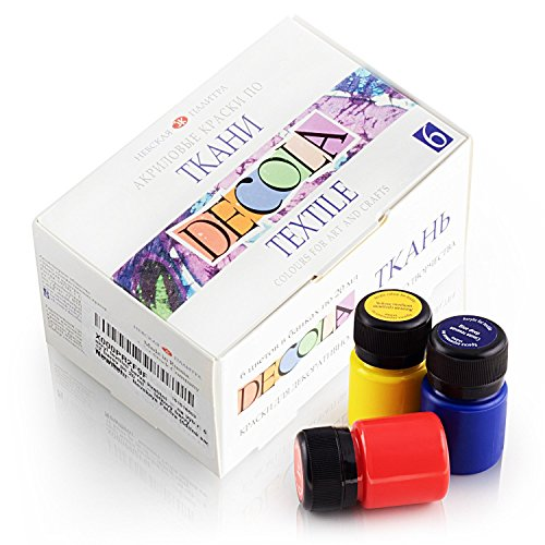 (Hochwertiges Textilfarbe Set | 6 x 20ml | Stoffmalfarben waschfest | von Nevskaya Palitra)