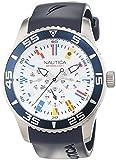 Nautica Herren-Armbanduhr XL Chronograph Quarz Resin A12627G