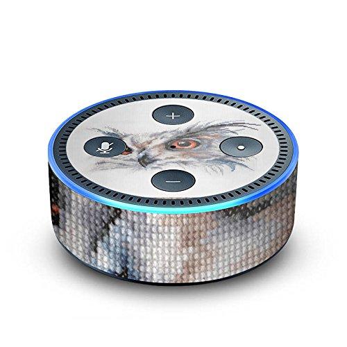 amazon Echo Dot 2.Generation Folie Skin Sticker aus Vinyl-Folie Eule Uhu Owl