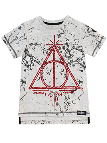 HARRY POTTER Jungen Deathly Hallows T-Shirt Grau 146