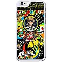 Valentino Rossi Vr46 Sticker Bomb Funda iphone 6 Case Protective Cover, Funda iphone 6S Case Protective Cover, Hard Case Protective Cover Cover Skin For Funda iphone 6 4.7 Pulgada