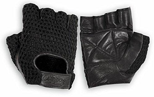A-pro sin dedos Guantes Biker suave piel piel vacuno