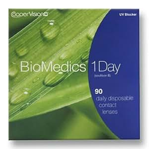 Biomedics 1 Day Tageslinsen weich, 90 Stück / BC 8.7 mm / DIA 14.2 / -4,75 Dioptrien