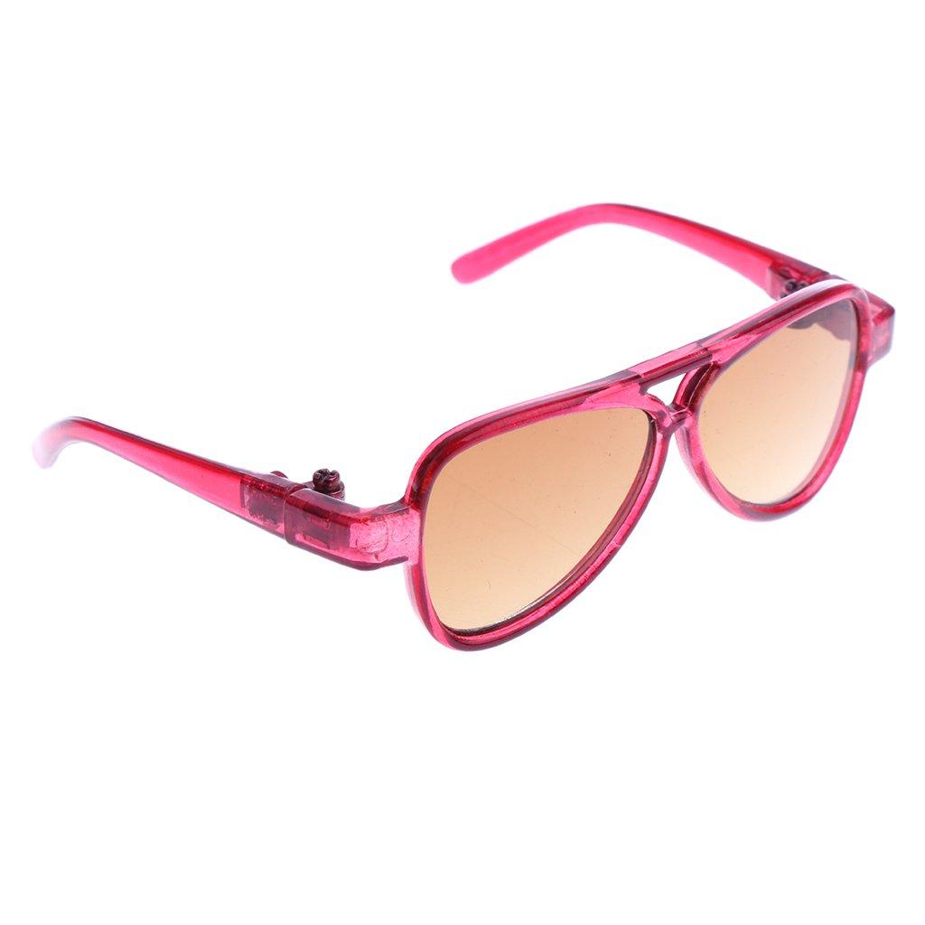 MagiDeal Occhiali Vista Specchio Ovali Telaio Moda Stile Per 1/3 BJD Bambole Accessori Plastica - Gi