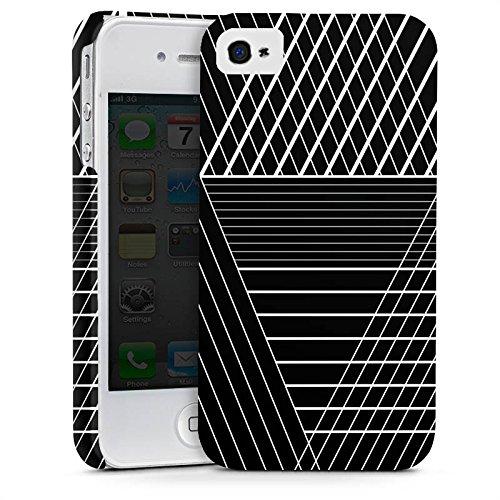 Apple iPhone X Silikon Hülle Case Schutzhülle Linien Striche Geometrisch Premium Case glänzend