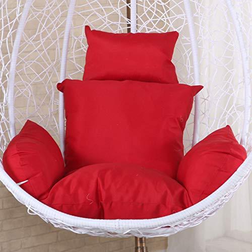 LoveLife Hängende Ei Hängematte Stuhlkissen,Swing Sitzkissen,dickenest Hängen Stuhl Zurück Mit Kissen Patio Garden Wicker(Stuhl Nicht Enthalten)-aa 110x110cm(43x43inch)