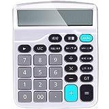 MLL Deli 1532 calcolatrice vocale computer invia 2 sezione 5 batteria senza pulsante di arresto calcolatrice finanziaria,Argento