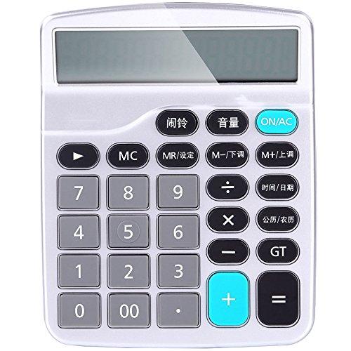 MLL Deli 1532 Computer Stimme Rechner senden 2 Abschnitt 5. Batterie Kein Herunterfahren Schaltfläche Finanzrechner,Silber,A