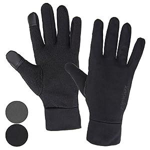 ALPIDEX Leichte Sporthandschuhe Laufhandschuhe Running Handschuhe Nordic Walking Handschuhe für Damen und Herren mit Touchscreen-Funktion
