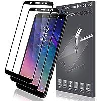 LK [2 Pack Pellicola Protettiva per Samsung Galaxy A6 Plus 2018, [Copertura Completa] Protezione Schermo Vetro Temperato Screen Protector [Garanzia di Sostituzione a Vita] -Nero