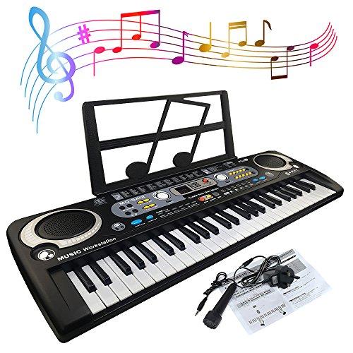JJPRIME - Teclado piano digital portátil 54 teclas