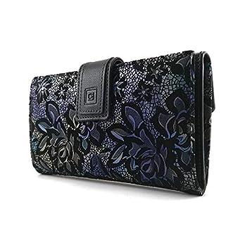 Geldbörse Damen, Handmade Spanien, Portemonnaie Damen, Casanova, Gemacht Aus Haut, Ref. 26918 Blau